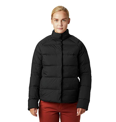 Mountain Hardwear Womens Glacial Storm Down Jacket, Black, Small