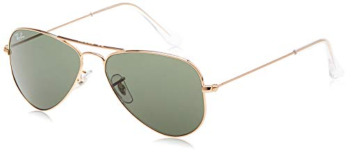 Ray-Ban Unisex-Adult RB3044 Small Metal Sunglasses, Gold/Green, 52 mm