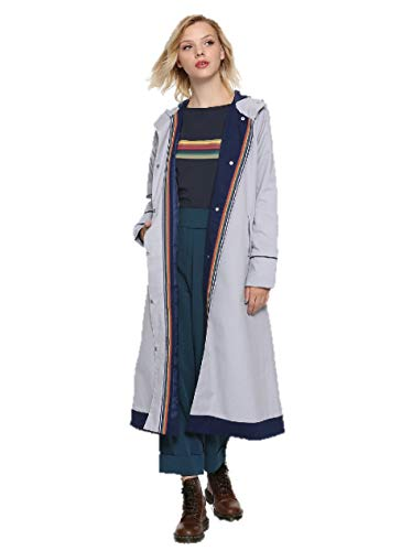 Her Universe Doctor Who Thirteenth Doctor Trench Coat Size: Medium Blue