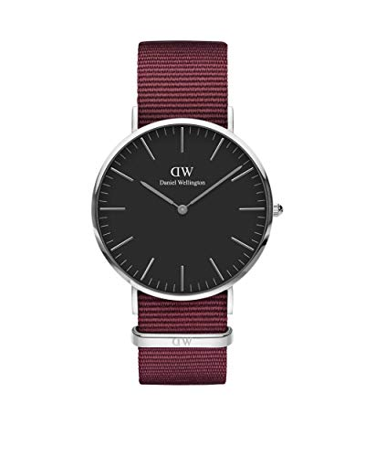 Daniel Wellington Classic Roselyn Silver Watch, 40mm, Nato, for Men and Women