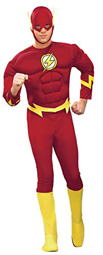Rubie's Dc Heroes and Villains Collection Deluxe Muscle Chest Flash, Red, X-Large Costume(Adult)