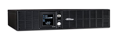 CyberPower OR2200LCDRT2U Smart App LCD UPS System, 2200VA/1320W, 8 Outlets, AVR, 2U Rack/Tower Black