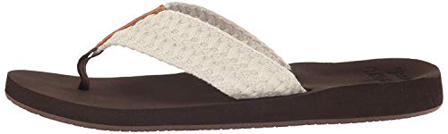 Reef Women's Cushion Threads Sandal, Vintage White, 8