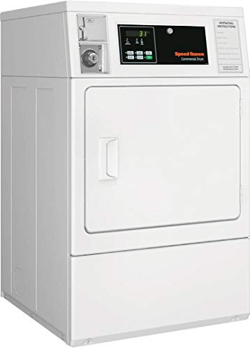 Speed Queen SDGNCAGS113TW01 Single Load Gas Dryer with 7 Cu. Ft. Capacity, QUANTUM Controls, Upfront Lint Filter, 5 Temperature Settings and 5350 Watts Heating Element, in White