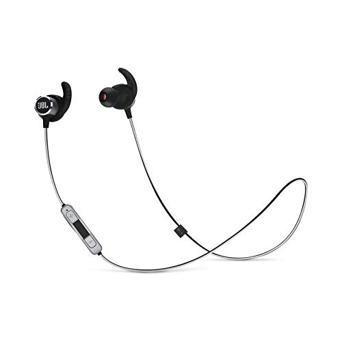 JBL Reflect Mini 2 Wireless in-Ear Sport Headphones with Three-Button Remote and Microphone - Black