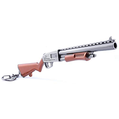 LONGHE Games Metal 1/6 Metal Thomson Tommy Drum Gun Cannon Scar AWP Sniper Rifle Assault Model Action Figure Arts Toys Collection Keychain Gift (Pump Shotgun)