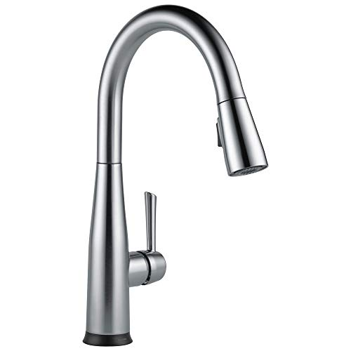DELTA Essa VoiceIQ Single-Handle Touch Kitchen Sink Faucet with Pull Down Sprayer, Alexa and Google Assistant Voice Activated, Smart Home, Arctic Stainless 9113TV-AR-DST