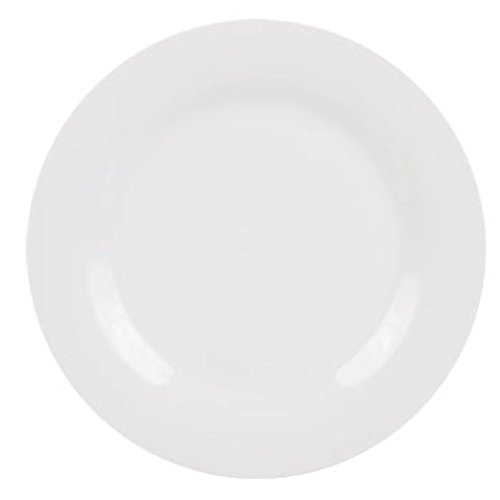 White Dinner Plate 10.5' Stoneware Plateware that is Microwave Safe and Dishwasher Safe and Very Durable Good for Home Use for Meals or Even Restaurants, Banquet Facilities or Hotels