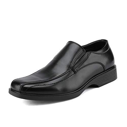 Bruno Marc Men's Cambridge-05 Black Leather Lined Dress Loafers Shoes - 10.5 M US