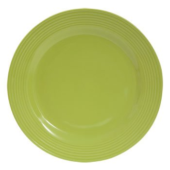 Royal Norfolk - Santa Fe Lime Green Solid Stoneware Dinner Plate, 10 1/2'