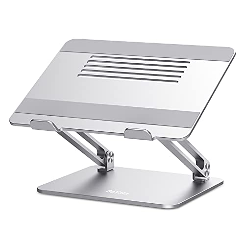 Laptop Stand, Boyata Adjustable Laptop Riser Ergonomic Computer Stand for Desk, Aluminum Laptop Holder Compatible for MacBook Pro/Air, Surface Laptop and Other Laptops up to 17 Inches