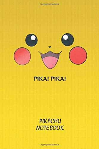 Pika Pika Pikachu Notebook: Anime Lover Notebook, 112 Lined Pages, 6 x 9, Gift, School&Office, Pokemon, Pikachu