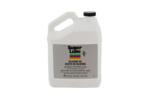 Super Lube 56101 Synthetic Silicone Oil 100 cSt, 1 gal Bottle, Translucent Clear
