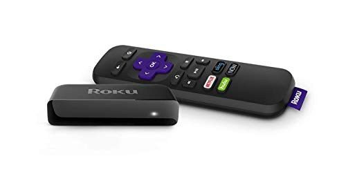 Roku Premiere   HD/4K/HDR Streaming Media Player with Simple Remote and Premium HDMI Cable, Black (Renewed)