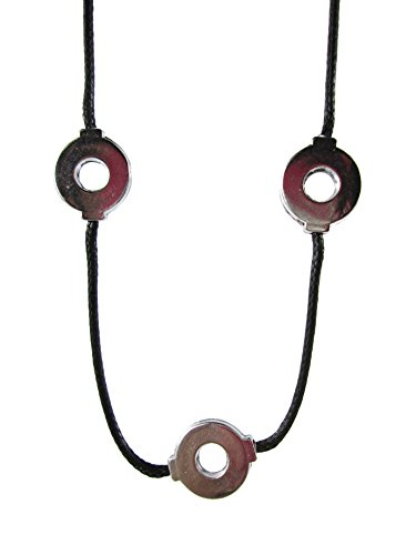 Brdwn Unisex Cosplay Amaterasu Sharingan Red Cloud Necklace,Three Circle