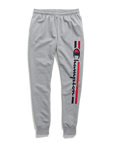 Champion Powerblend Graphic Jogger Oxford Gray LG