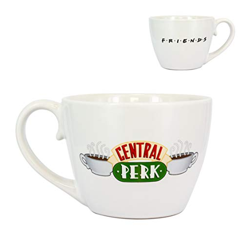 Friends Central Perk Cappuccino Mug, Oversized Ceramic Coffee and Tea Cup - 296 ml