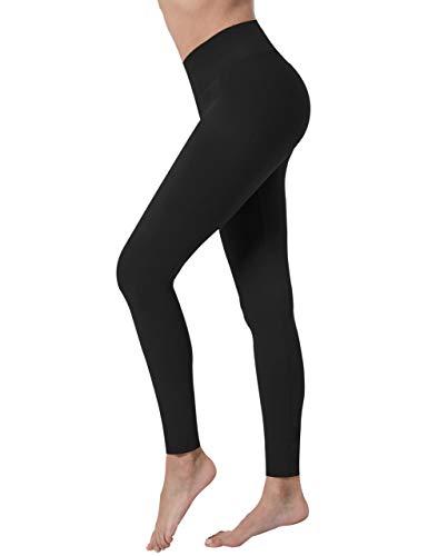 VALANDY Women's High Waist Tummy Control Yoga Pants Workout Running Sports Tights Leggings One Plus Size Black