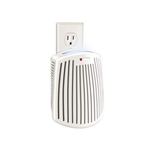 Hamilton Beach TrueAir Plug-Mount Odor Eliminator Nightlight with Carbon Filter + Green Mountain Scent Cartridge, Common Household-Tobacco, Pet, Bathroom, Trash, On/Off Fan (04531GM)
