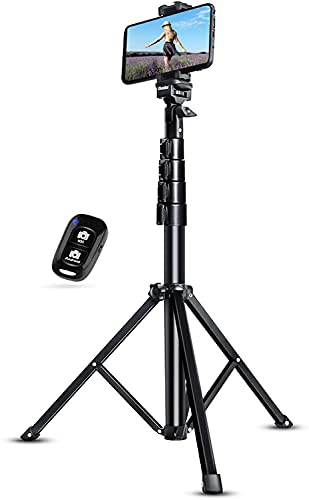UBeesize 51' Extendable Tripod Stand with Bluetooth Remote for iPhone Android Phone, Heavy Duty Aluminum, Lightweight