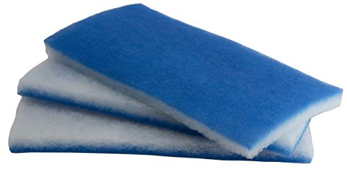 inTank Aquarium and Pond Value Pack - Bonded Blue & White Poly Filter Floss Pads 600-square-inches