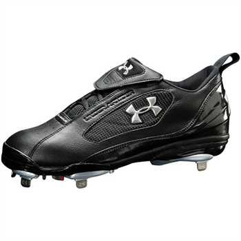 Under Armour New Clutch Metal Low ST - Men's 13 Black/Black Baseball Cleats