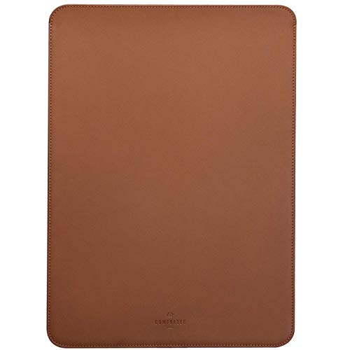 Comfyable Laptop Sleeve 13 Inch Precisely Compatible with MacBook Pro M1 2016-2020 & Mac Air 2020, Not Fit Old Versioned MBA/MBP, Faux Leather Cover Case, Brown