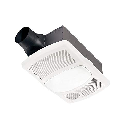 NuTone 765H110L NuTone 765H110L 110 CFM 2 Sone Ceiling Mounted Exhaust Fan With Heater and LED Light