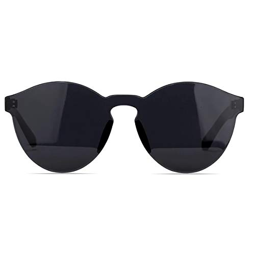NECTAR Classic Black Sunglasses with Black Lenses and UV Protection - The Dyme
