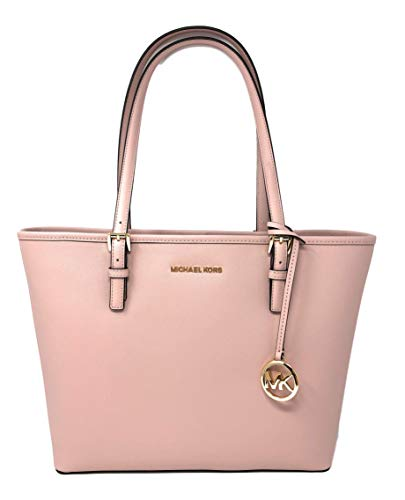 Michael Kors Jet Set Travel Medium Carryall Saffiano Tote - Blossom