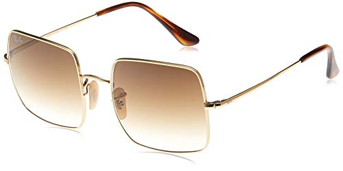 Ray-Ban Unisex-Adult RB1971 Classic Metal Sunglasses, Gold/Brown Gradient, 54 mm