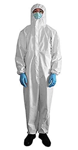 White PP Disposable Isolation Gown with Elastic Cuff Splash Resistant Medium