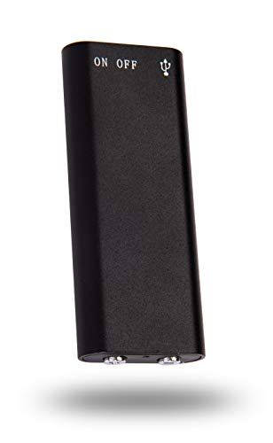 SpyCentre Security Micro Voice Recorder - Small Voice-Activated Recording Device - 8GB Memory Stores 90 Hours