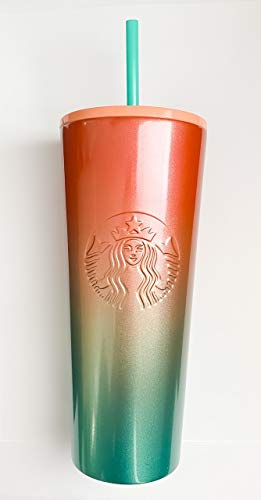 Starbucks Rainbow Iridescent Stainless Steel Insulated Cold Cup - Venti 24oz