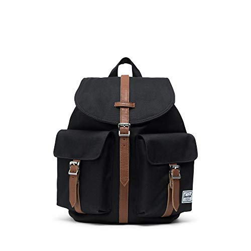 Herschel Dawson Backpack, Black/Tan Synthentic, Small 13L
