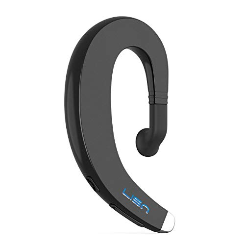 Ear Hook Wireless Bluetooth Headphone,LISN Painless Wearing Bluetooth Earpiece with Mic,Lightweight Non Ear Plug Single Ear Bluetooth Headset for Cell Phone 8-10 Hrs Playtime(Black)
