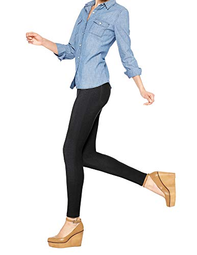 No Nonsense Women's Denim Legging, Black, X-Large