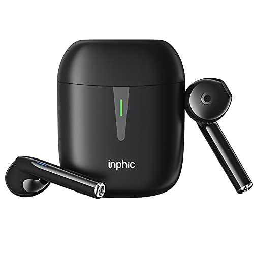 Wireless Earbuds,Inphic Wireless Headphones with Microphone,IPX7 Waterproof Bluetooth Headphones with Charging case,Long Playtime Wireless Earphones,Bluetooth Earbuds for iPhone/Android/WP