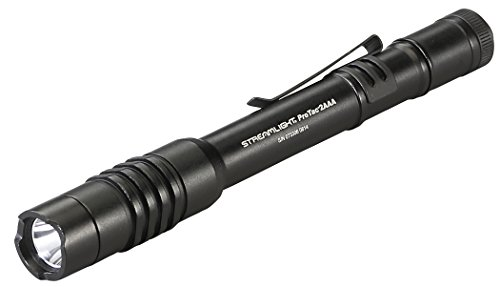 Streamlight 88039 ProTac 2AAA 130 Lumen Professional Tactical Flashlight with High/Low/Strobe w/ 2 x AAA Batteries - 130 Lumens, Black