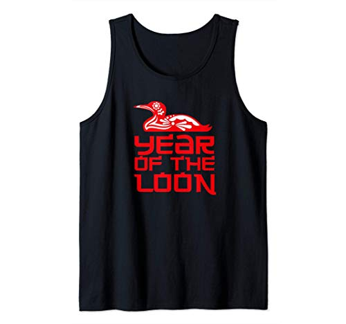 Year of the Loon gift for Bird Watchers Birders love loons Tank Top