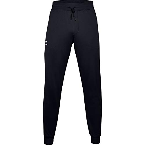 Under Armour Men's Sportstyle Tricot Joggers , Black (001)/White , Large
