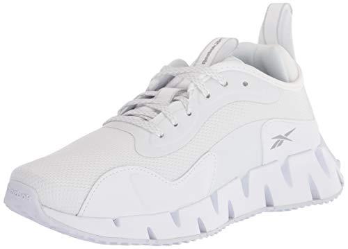 Reebok Women's Zig Dynamica Running Shoe, White/Pure Grey, 9