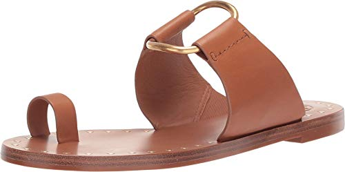 Tory Burch Women's Ravello Tan Leather Studded Sandal Thong (9 M US)