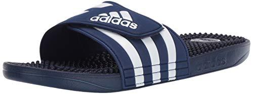 adidas Men's Adissage Slides, Dark Blue/White/Dark Blue, 11 M US