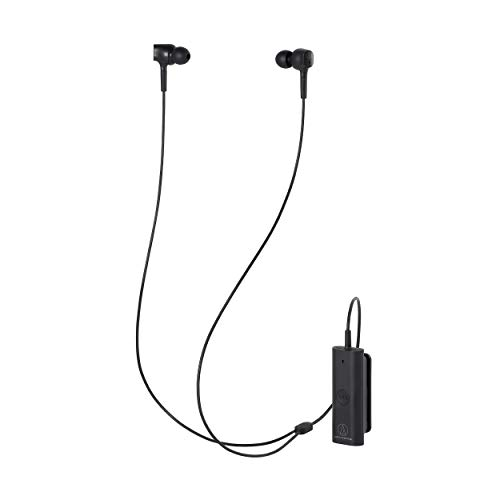 Audio-Technica ATH-ANC100BT QuietPoint Wireless In-Ear Active Noise-Cancelling Headphones, Black