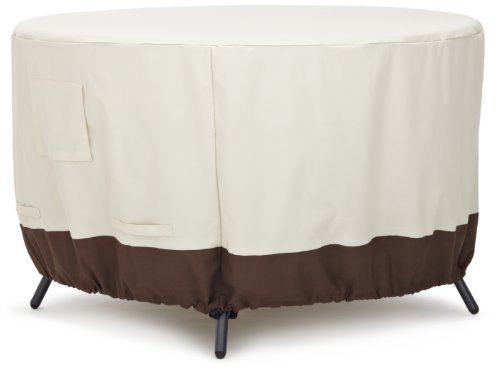 AmazonBasics Round Dining Table Outdoor Patio Furniture Cover, 48 Inch