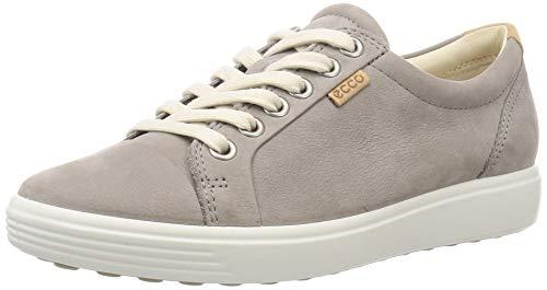 ECCO womens Soft 7 Fashion Sneaker, Warm Grey Nubuck, 8-8.5 US