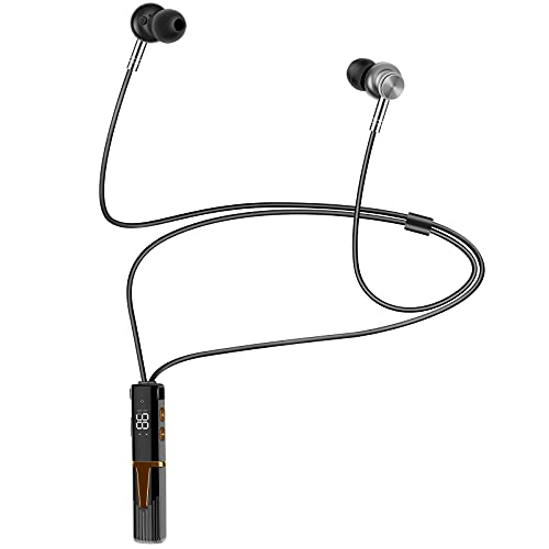 Wireless Bluetooth Headphones,Call Noise Reduction Headset with Battery Backup and Battery Display, Suitable for Running/Driving/Audio Books (Black)