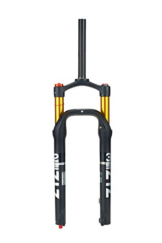 BOLANY MTB Front Fork 26 Inch Ultralight Aluminum Alloy Mountain Bike Suspension Air Pressure Bicycle Pneumatic Shock Absorber Front Fork 4.0 Tire