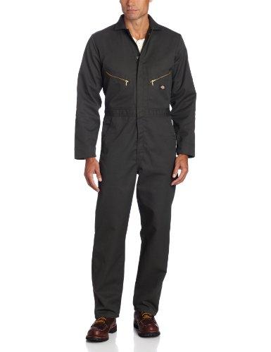 Dickies Men's Deluxe Long Sleeve Blended Coverall, Olive Green, 2X/Regular